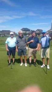 Winning Foursome 2017 -  Shane, Bill, Troy, Harold.