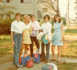 Tokyo dorms L-R Trudy Irving, Gerri Ward, Judy Ward, Doreen McDowell, Sharon Watts